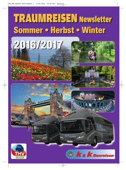 TRAUMREISEN 2016 / 2017 Sommer - Herbst - Winter 2016 / 2017