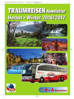 TRAUMREISEN Newsletter III Herbst - Winter 2016 / 2017