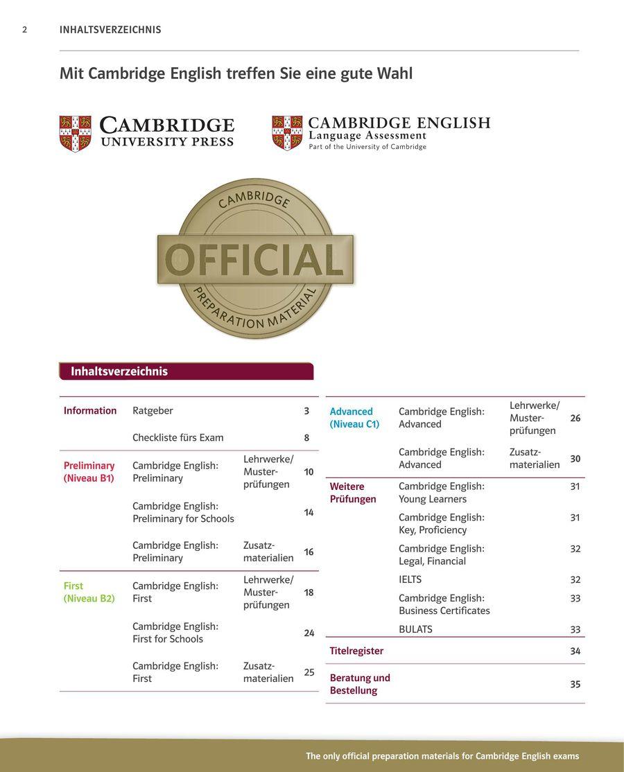 Cambridge English Zertifikate 2016 Von Ernst Klett Sprachen