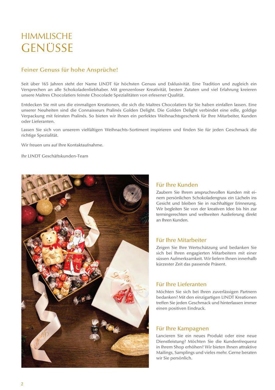 Schokolade Weihnachts-Katalog 2015 von Lindt & Sprüngli (Schweiz)