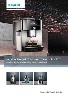 Kernsortiment Consumer Products Oktober 2016 (Händlerprospekt)