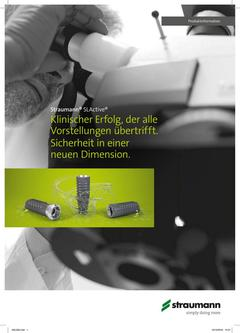 Straumann® SLActive – Kurzinformation / Marketingflyer 2017
