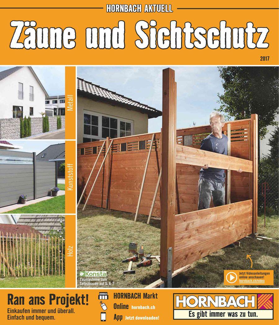 Zaune Und Sichtschutz Marz 2017 Von Hornbach Baumarkt Schweiz