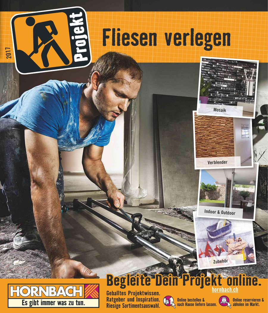 Fliesen Verlegen April Von HORNBACH Baumarkt Schweiz - Hornbach fliesen katalog