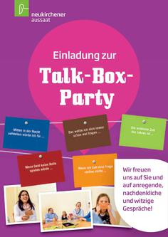 Einladung zur Talk-Box-Party Postkarte