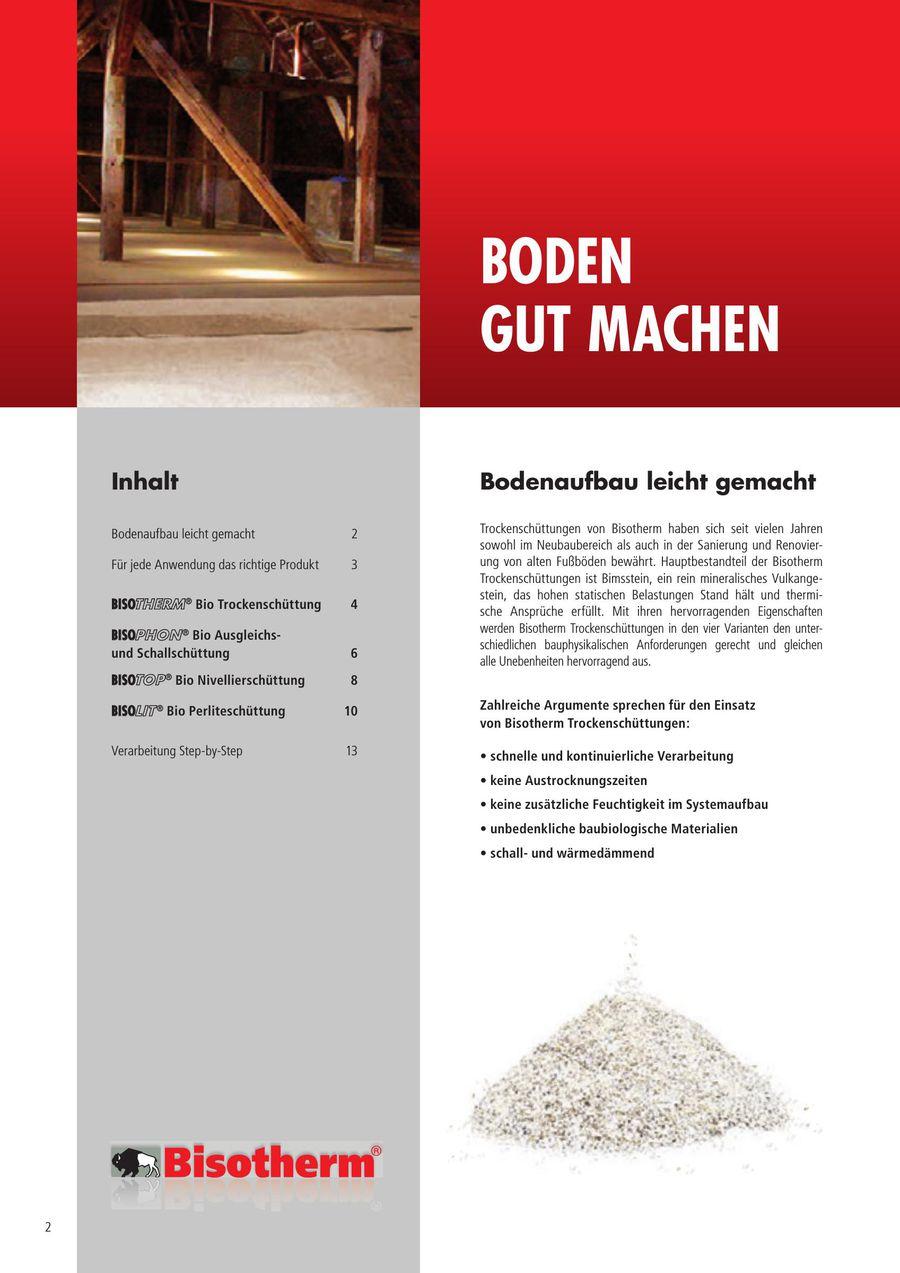 Bisotherm verarbeitung