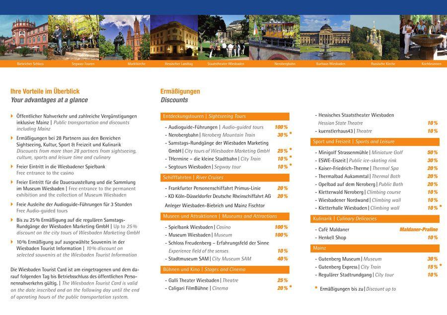 Tourist Card Infos Von Landeshauptstadt Wiesbaden