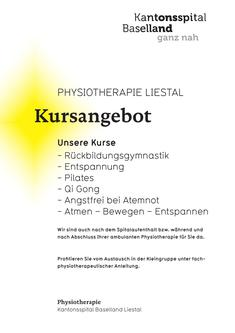 Kursangebot Physiotherapie Liestal 2018