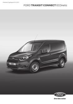 Preisliste Ford Transit Connect Econetic (01.12.2017)