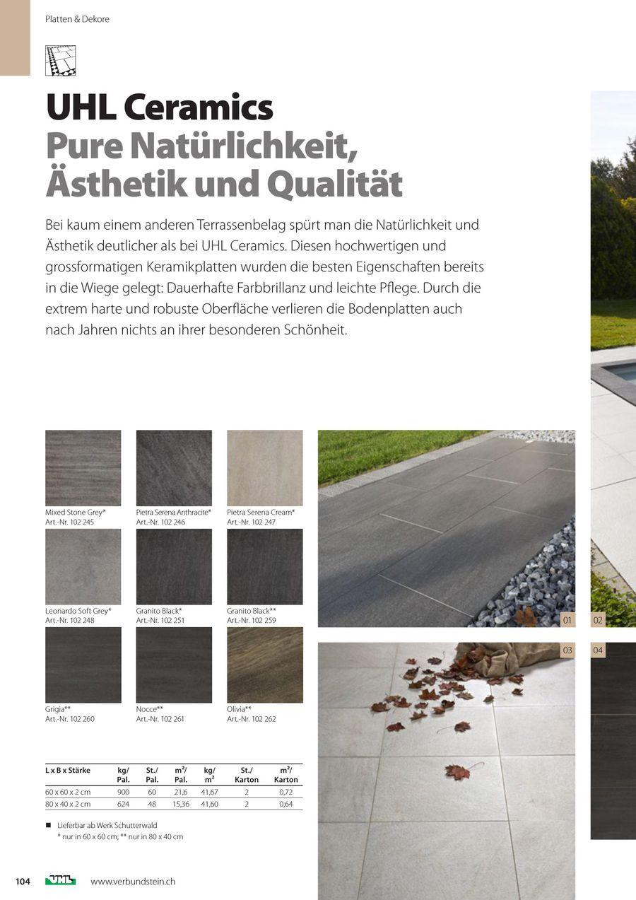 Terrassenplatten Von UHL Verbundstein AG Schweiz - Leichte terrassenplatten