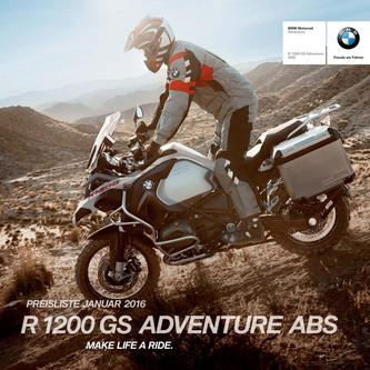 BMW R 1200 GS Adventure ABS 2016