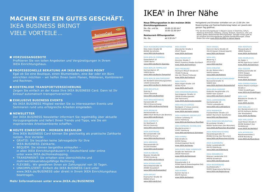 Ikea Silvester seite 16 ikea business 2010