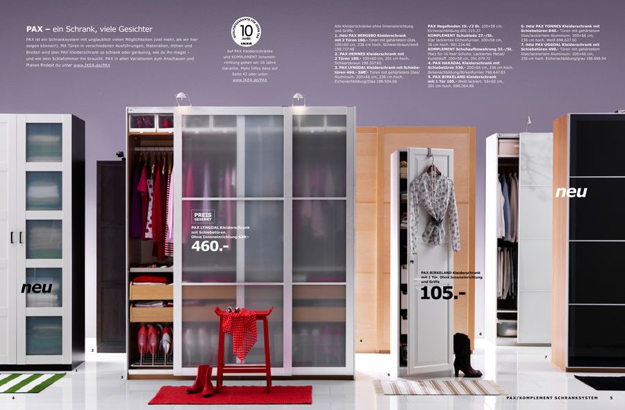 Schranksysteme 2010 von Ikea