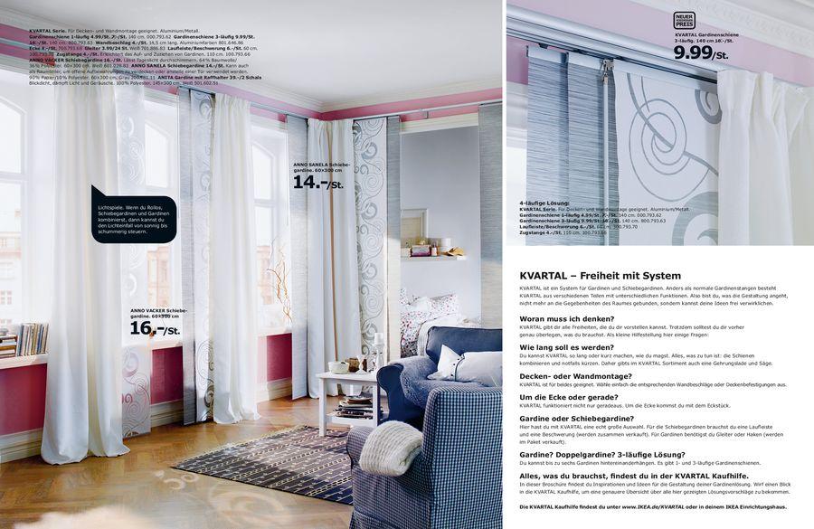 Gardinenaufhängesystem Kvartal 2012 von Ikea