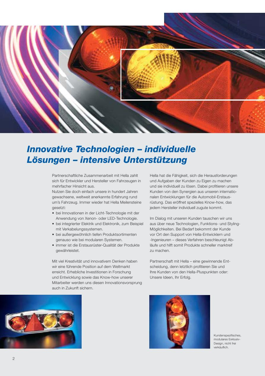 Anbau hinten 3000 mm Kabel LED Bremslicht HELLA 2DA 343 106-021 Zusatzbremsleuchte 12 V