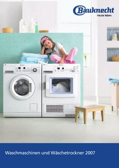 Waschmaschinen und Wäschetrockner 2007