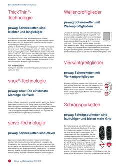 Technische Informationen Schneeketten