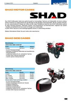 SHAD Koffer und Kofferhalter 2013