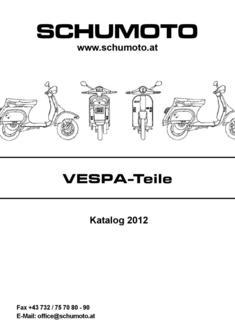 Vespa und APE Katalog 2012