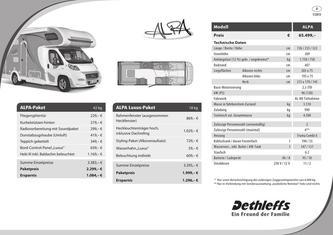 Preisliste/Technische Daten Alpa 2013