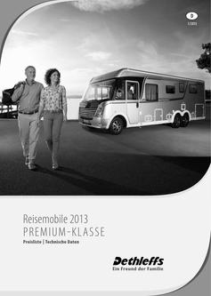 Preisliste/Technische Daten Reisemobile Premium-Klasse 2013