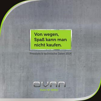 Preisliste evan 2014