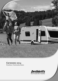 Preisliste/Technische Daten Caravans 2014