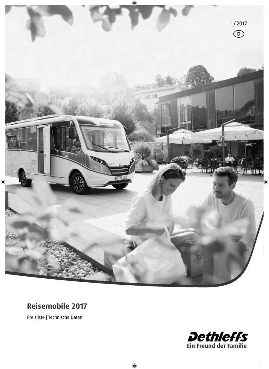 Preisliste Technische Daten Reisemobile 2017