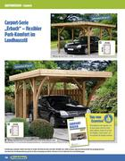 holz carport in gartenh user 2011 von praktiker. Black Bedroom Furniture Sets. Home Design Ideas