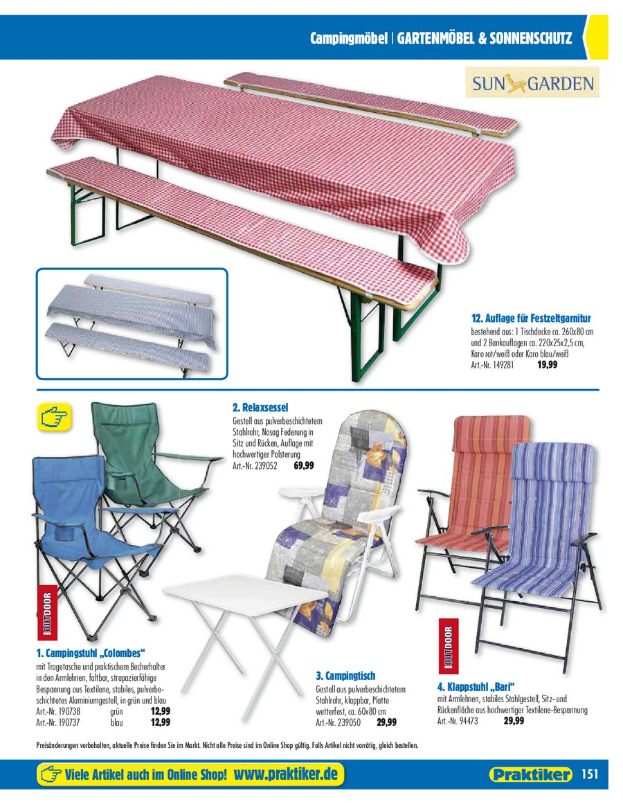 Seite 20 von Gartenmöbel 2012