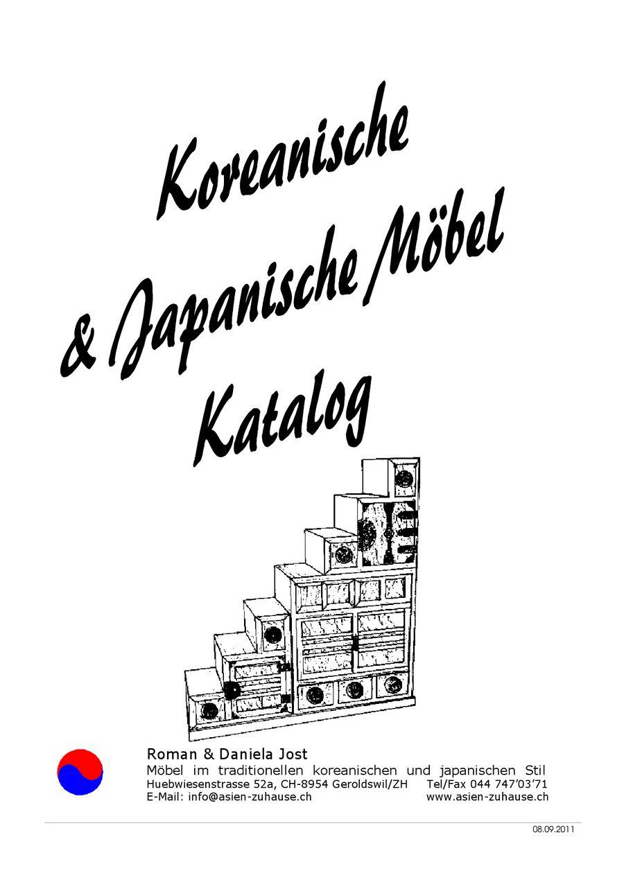 Koreanische & japanische möbel 2012 von roman & daniela jost