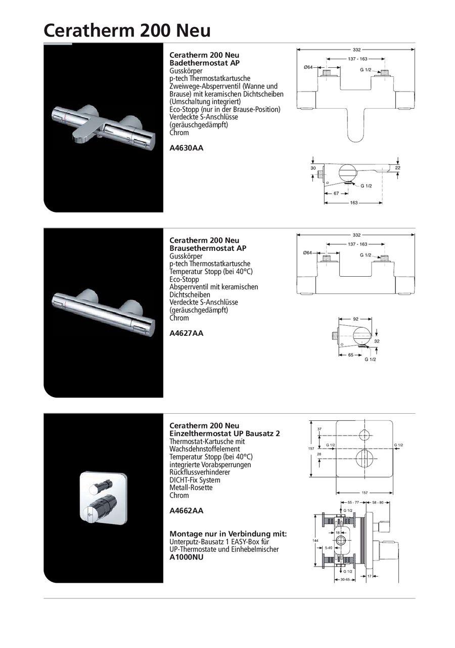 Seite 13 von CeraTherm 100 - 200 Armaturen 2013