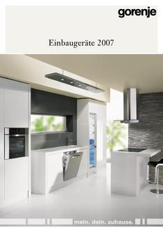 geschirrsp ler gorenje in gorenje einbauger te ausf hrliche version programm 2007 von gorenje. Black Bedroom Furniture Sets. Home Design Ideas