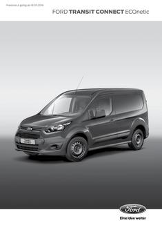 Ford Transit Connect ECOnetic Preisliste 2016