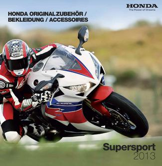 Honda Originalzubehör Supersport 2013