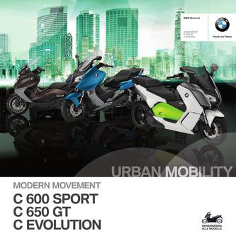 BMW C 600 Sport - C 650 GT - C evolution 2014