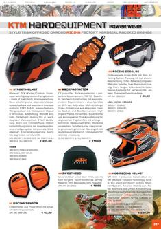KTM  Riding Equipment Katalog 2006