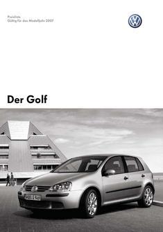 VW Golf Preisliste 2007