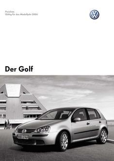 VW Golf Preisliste 2006