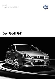 VW Golf GT Preisliste 2007