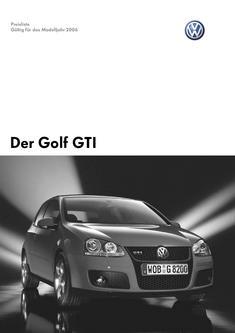 VW Golf GTI Preisliste 2006