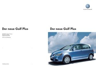 VW Golf Plus Prospekt 2006