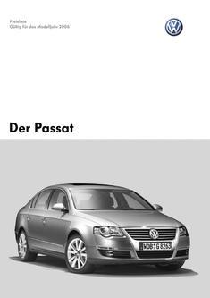 VW Passat Preisliste 2006