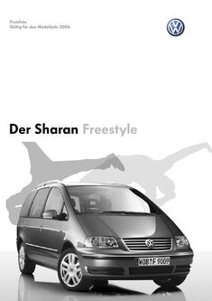 VW Sharan Freestyle Preisliste 2006