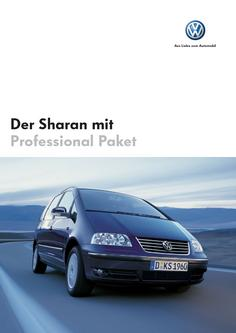 VW Sharan Professional Prospekt 2006