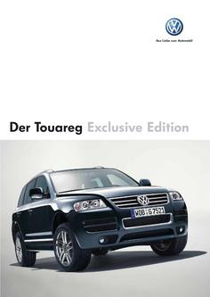 VW Touareg Exclusive Edition Prospekt 2006