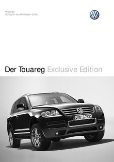 VW Touareg Exclusive Edition Preisliste 2006