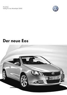 VW Eos Preisliste 2006