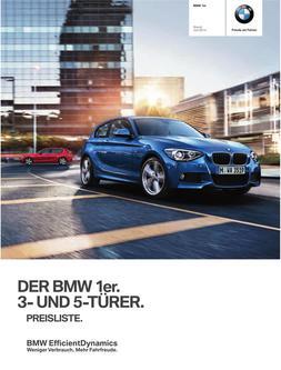 BMW 1er Preisliste 2014