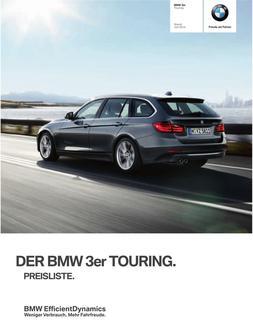 BMW 3er Touring Preisliste 2014